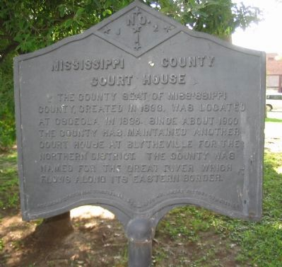 Mississippi County Court House Marker image. Click for full size.