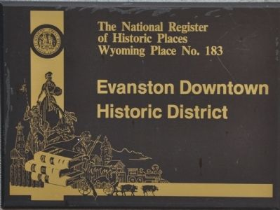 Evanston Downtown Historic District Marker image. Click for full size.