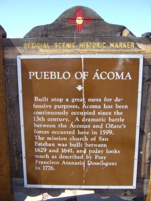 Pueblo of Acoma Marker image. Click for full size.