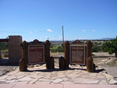 Pueblo of Luguna and Pueblo of Acoma Markers image. Click for full size.