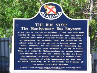 The Bus Stop Marker image. Click for full size.