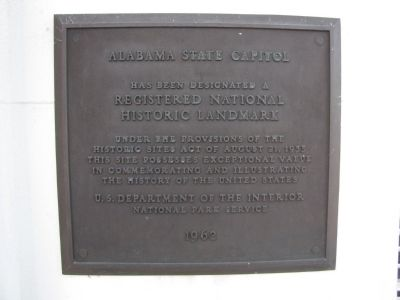 National Historic Landmark plaque to the right of the west entrance doors. image. Click for full size.