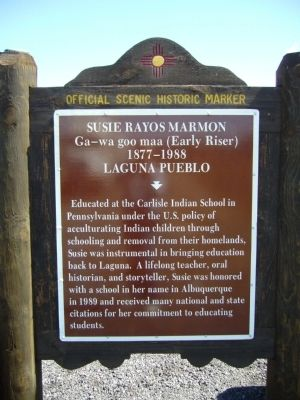 Susie Rayos Marmon Marker image. Click for full size.
