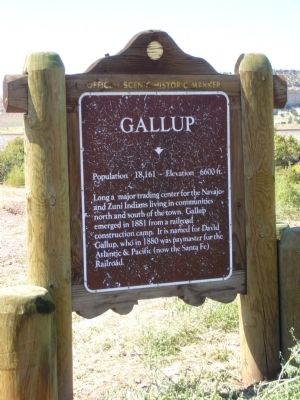 Gallup Marker image. Click for full size.