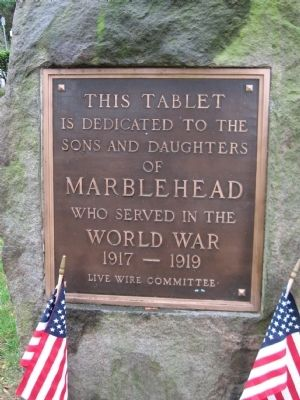 Marblehead World War I Monument image. Click for full size.
