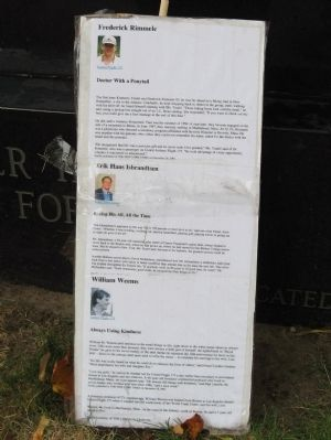 Small Placard Leaning Aginst the Memorial image. Click for full size.