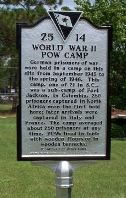 World War II POW Camp Marker image. Click for full size.