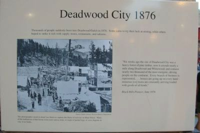 Deadwood City 1876 Marker image. Click for full size.