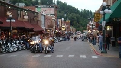 Deadwood Main Street during the Sturgis Bike Rally image. Click for full size.