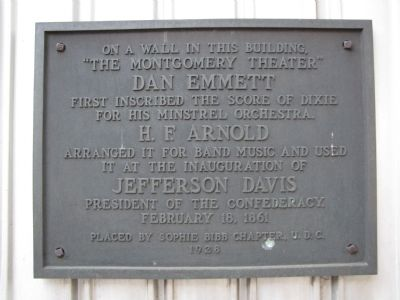 The Montgomery Theater Marker image. Click for full size.