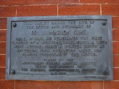 Dr. J. Marion Sims Marker image. Click for full size.