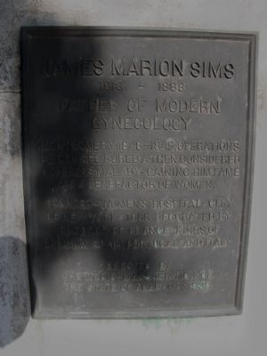 Dr. J. Marion Sims statue image. Click for full size.
