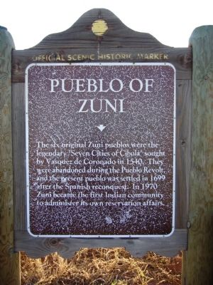 Pueblo of Zuni Marker image. Click for full size.