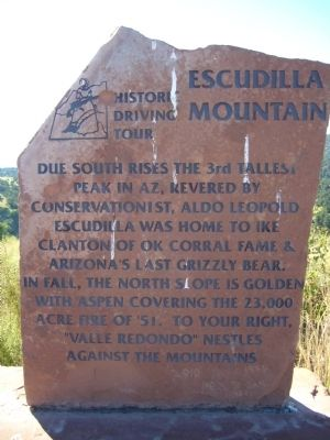 Escudilla Mountain Marker image. Click for full size.
