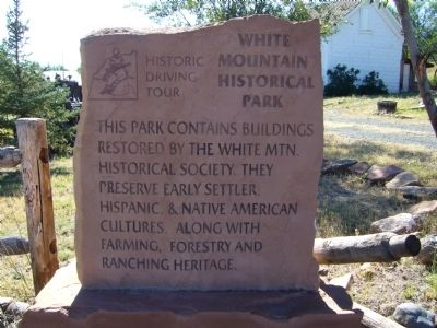 White Mountain Historical Park Marker image. Click for full size.