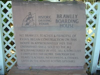 Brawley Boarding House Marker image. Click for full size.