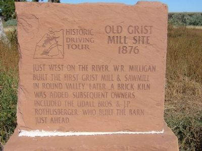 Old Grist Mill Site Marker Photo, Click for full size
