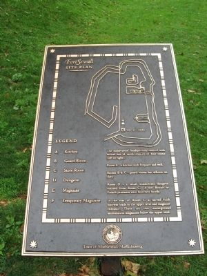 Fort Sewall Site Plan Marker Photo, Click for full size