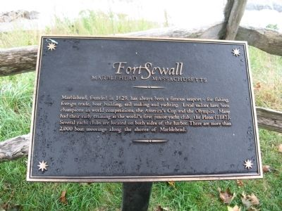 Fort Sewall Marker image. Click for full size.