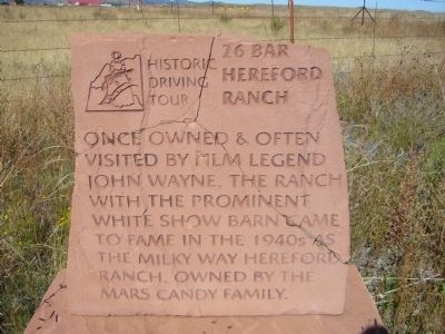 26 Bar Hereford Ranch Marker image. Click for full size.