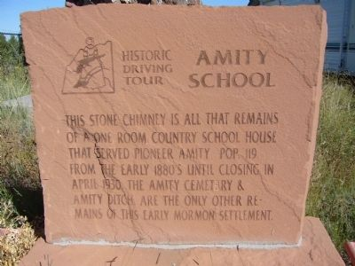 Amity School Marker image. Click for full size.