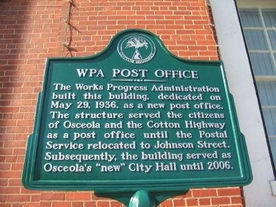 WPA Post Office Marker image. Click for full size.