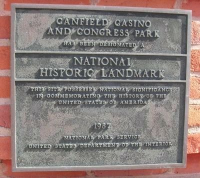 Canfield Casino and Congress Park image. Click for full size.