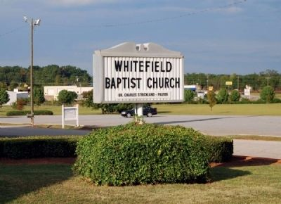 Whitefield Baptist Church Sign image. Click for full size.