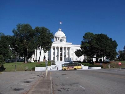 United States Flag Raised Over Alabama Capitol Marker image. Click for full size.