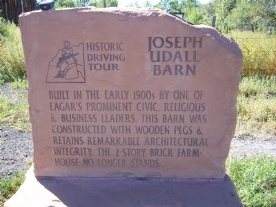 Joseph Udall Barn Marker image. Click for full size.