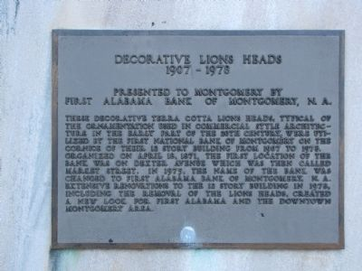 Decorative Lions Heads Marker image. Click for full size.