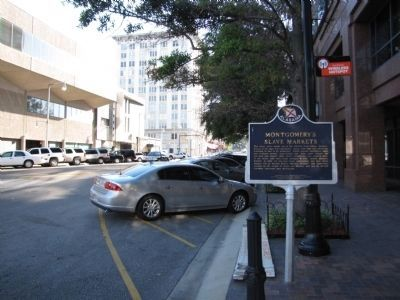 Montgomery�s Slave Markets Marker Photo, Click for full size