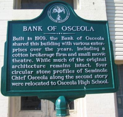 Bank of Osceola Marker image. Click for full size.