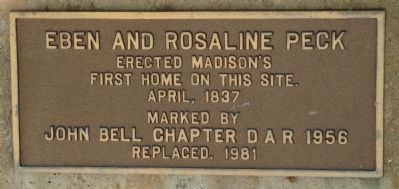 Eben and Rosaline Peck Marker image. Click for full size.