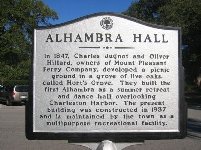 Alhambra Hall Marker image. Click for full size.
