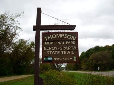 Entrance sign to Thompson Memorial Park Photo, Click for full size