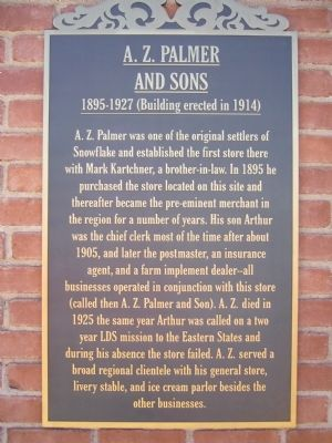 A.Z. Palmer and Sons Marker image. Click for full size.