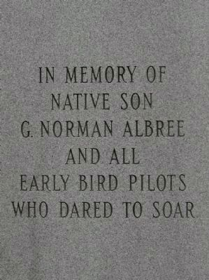 In Memory of G. Norman Albree Monument image. Click for full size.