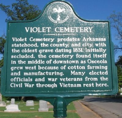 Violet Cemetery Marker image. Click for full size.