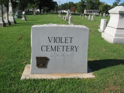 Violet Cemetery Entrance image. Click for full size.