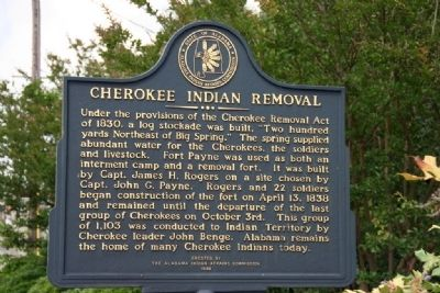 Cherokee Indian Removal Marker image. Click for full size.