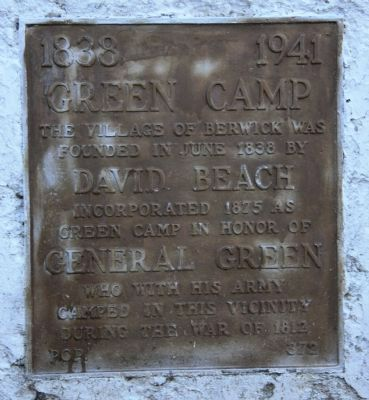 Green Camp Marker image. Click for full size.