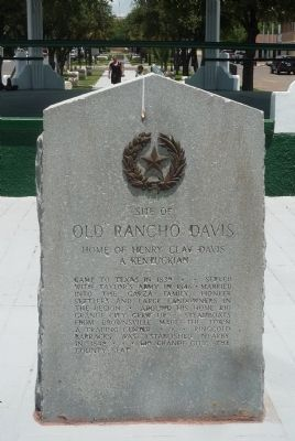 Site of Old Rancho Davis Marker image. Click for full size.