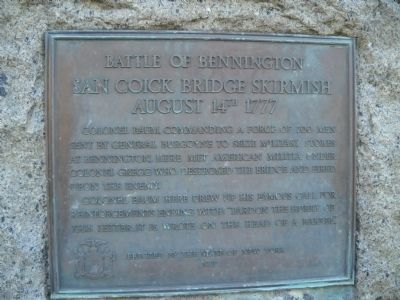 Battle of Bennington Marker Photo, Click for full size