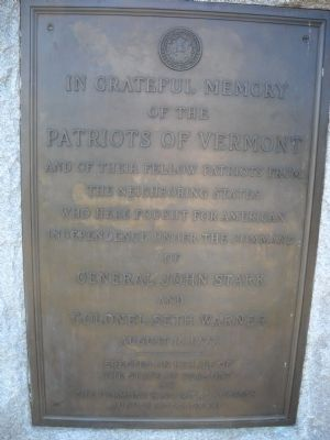 Patriots of Vermont Marker image. Click for full size.