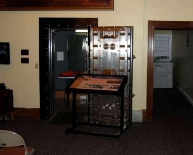 Old Bank Building Interior Marker and Bank Vault image. Click for full size.