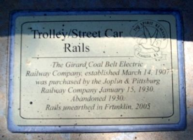Trolley / Street Car Rails Marker image. Click for full size.