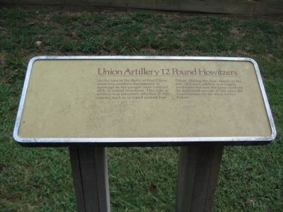 Union Artillery 12 Pound Howitzers Marker image. Click for full size.