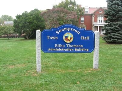 Swampscott Town Hall, Elihu Thomson House image. Click for full size.
