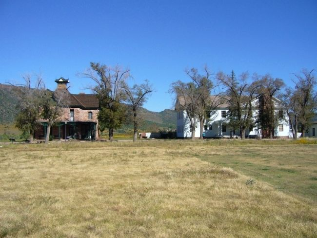 Commanding Officers' Quarters on left & B.I.A. Club House on right. image. Click for full size.